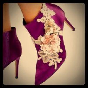 ASOS- EUC Purple Embellished Boots. Size 9